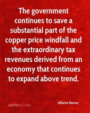 Alberto Ramos - The government continues to save a substantial part of the copper price windfall and the extraordinary tax revenues derived from an economy that continues to expand above trend.