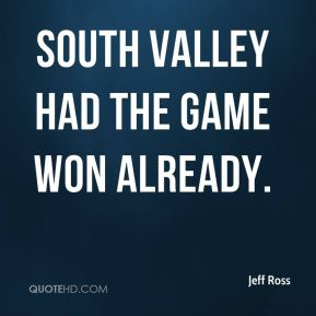 South Valley had the game won already.