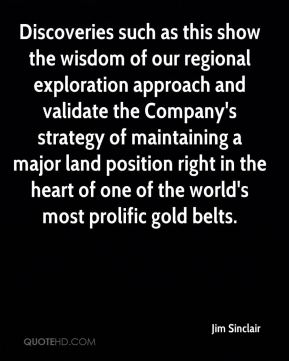 Discoveries such as this show the wisdom of our regional exploration approach and validate the Company's strategy of maintaining a major land position right in the heart of one of the world's most prolific gold belts.