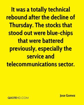 Jose Gomez  - It was a totally technical rebound after the decline of Thursday. The stocks that stood out were blue-chips that were battered previously, especially the service and telecommunications sector.