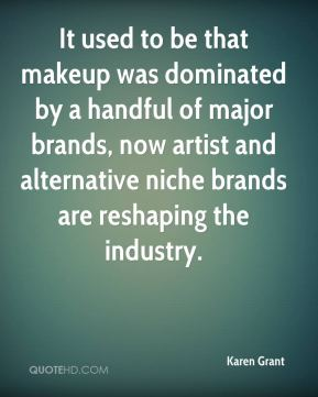 It used to be that makeup was dominated by a handful of major brands, now artist and alternative niche brands are reshaping the industry.