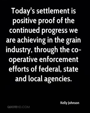 Today's settlement is positive proof of the continued progress we are achieving in the grain industry, through the co-operative enforcement efforts of federal, state and local agencies.