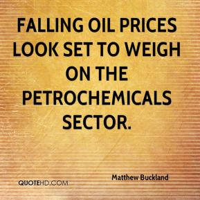 Falling oil prices look set to weigh on the petrochemicals sector.