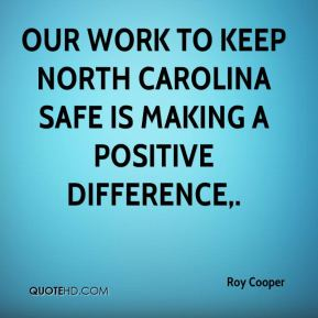 Our work to keep North Carolina safe is making a positive difference.