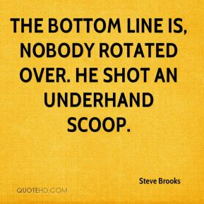 Steve Brooks  - The bottom line is, nobody rotated over. He shot an underhand scoop.