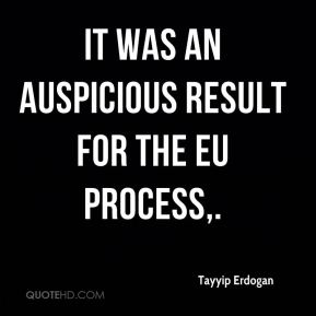 It was an auspicious result for the EU process.