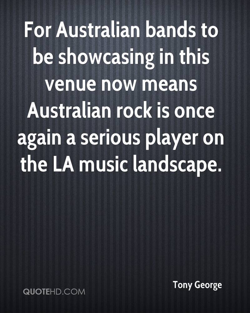 For Australian bands to be showcasing in this venue now means Australian rock is once again a serious player on the LA music landscape.