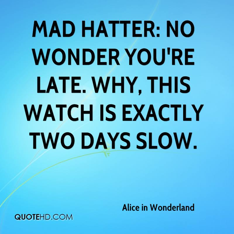 alice and wonderland the mad hatter quotes