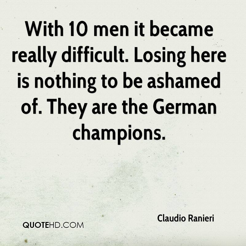 With 10 men it became really difficult. Losing here is nothing to be ashamed of. They are the German champions.