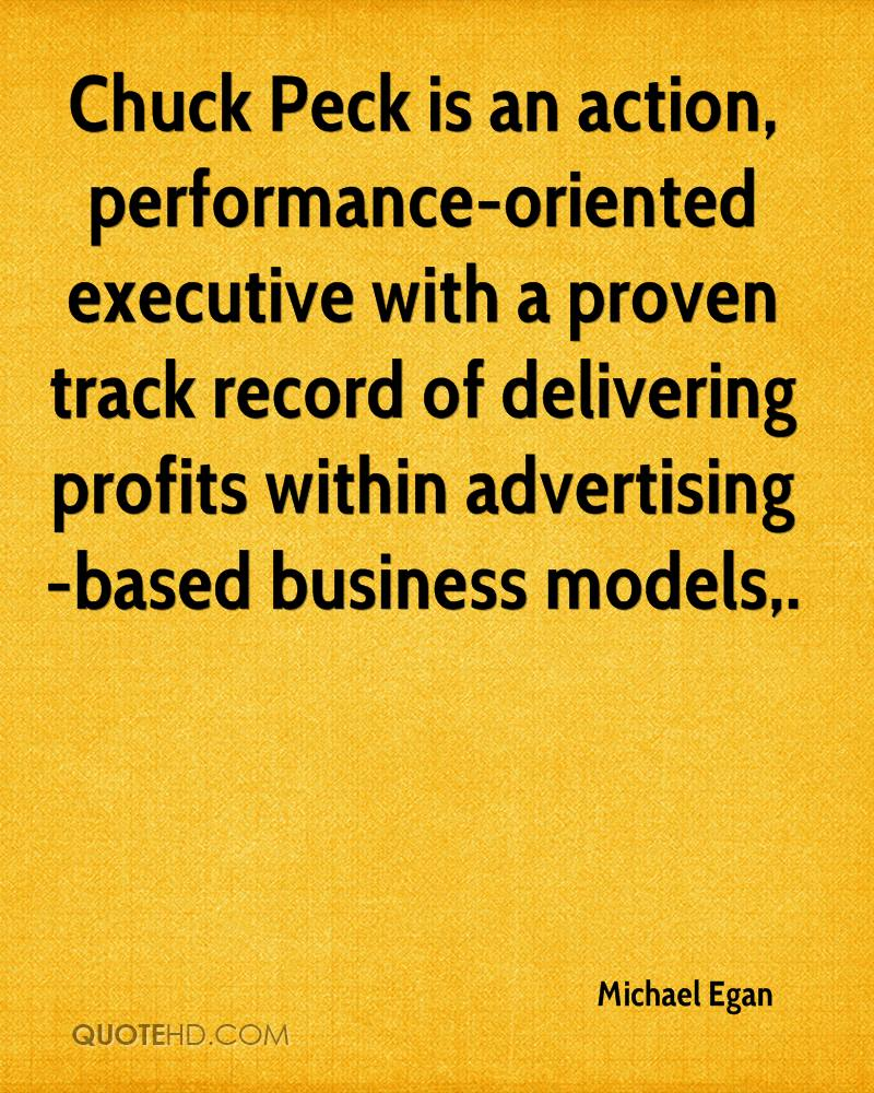 Chuck Peck is an action, performance-oriented executive with a proven track record of delivering profits within advertising-based business models.