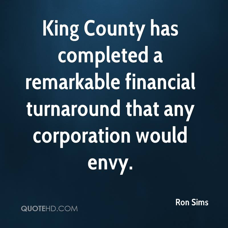 King County has completed a remarkable financial turnaround that any corporation would envy.