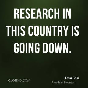 Research in this country is going down.