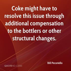 Coke might have to resolve this issue through additional compensation to the bottlers or other structural changes.