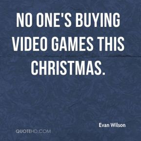 No one's buying video games this Christmas.