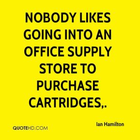 Nobody likes going into an office supply store to purchase cartridges.