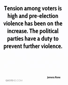 Jemera Rone  - Tension among voters is high and pre-election violence has been on the increase. The political parties have a duty to prevent further violence.