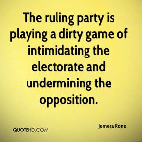 Jemera Rone  - The ruling party is playing a dirty game of intimidating the electorate and undermining the opposition.