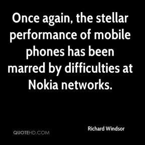 Richard Windsor  - Once again, the stellar performance of mobile phones has been marred by difficulties at Nokia networks.
