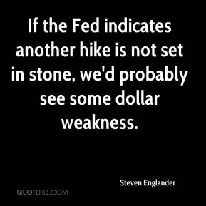 Steven Englander  - If the Fed indicates another hike is not set in stone, we'd probably see some dollar weakness.