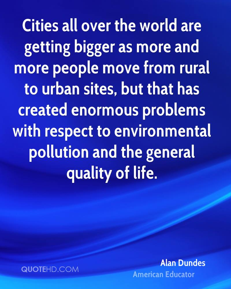 Pollution and urban problems