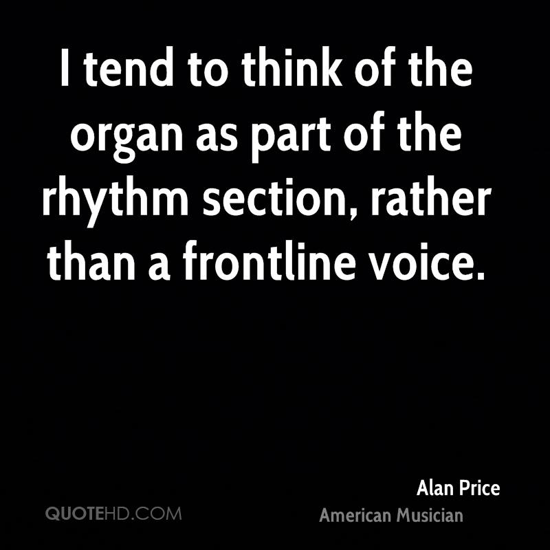 I tend to think of the organ as part of the rhythm section, rather than a frontline voice.