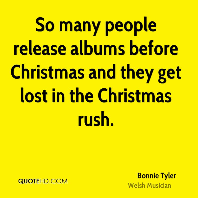 So many people release albums before Christmas and they get lost in the Christmas rush.