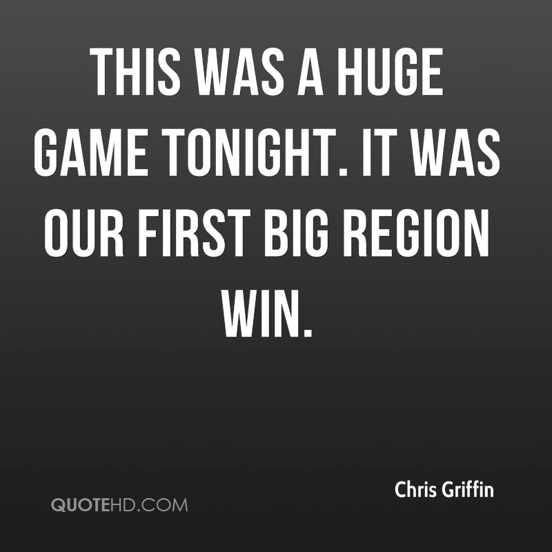 This was a huge game tonight. It was our first big region win.