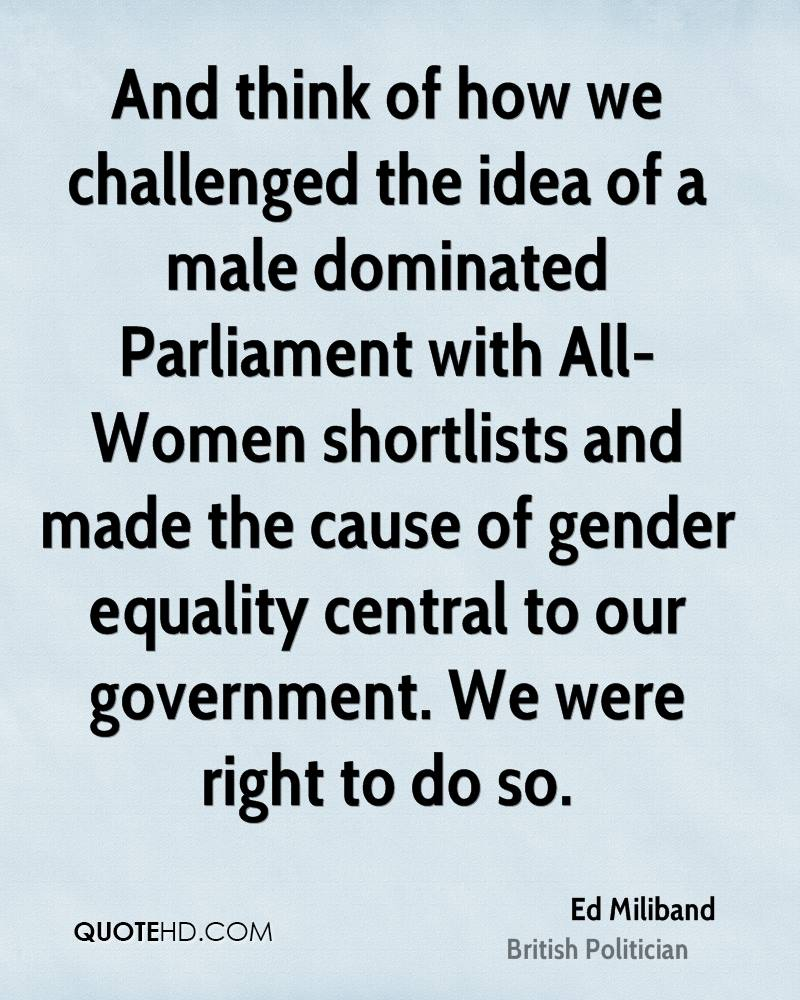 Gender Equality Quotes Ed Miliband Equality Quotes  Quotehd
