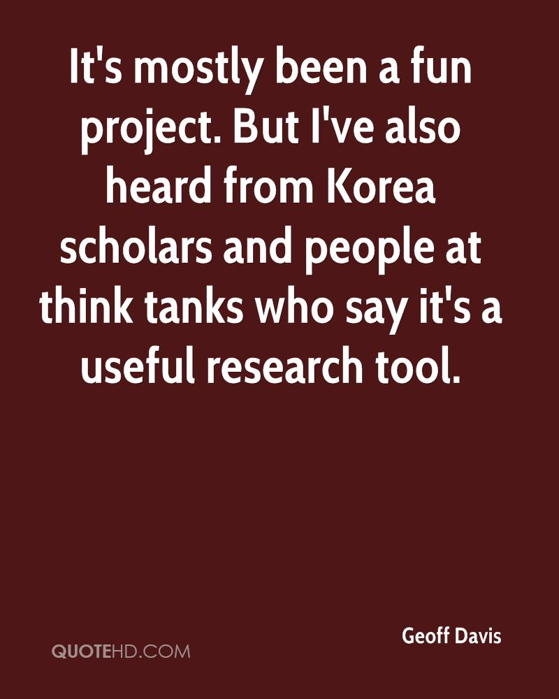 It's mostly been a fun project. But I've also heard from Korea scholars and people at think tanks who say it's a useful research tool.