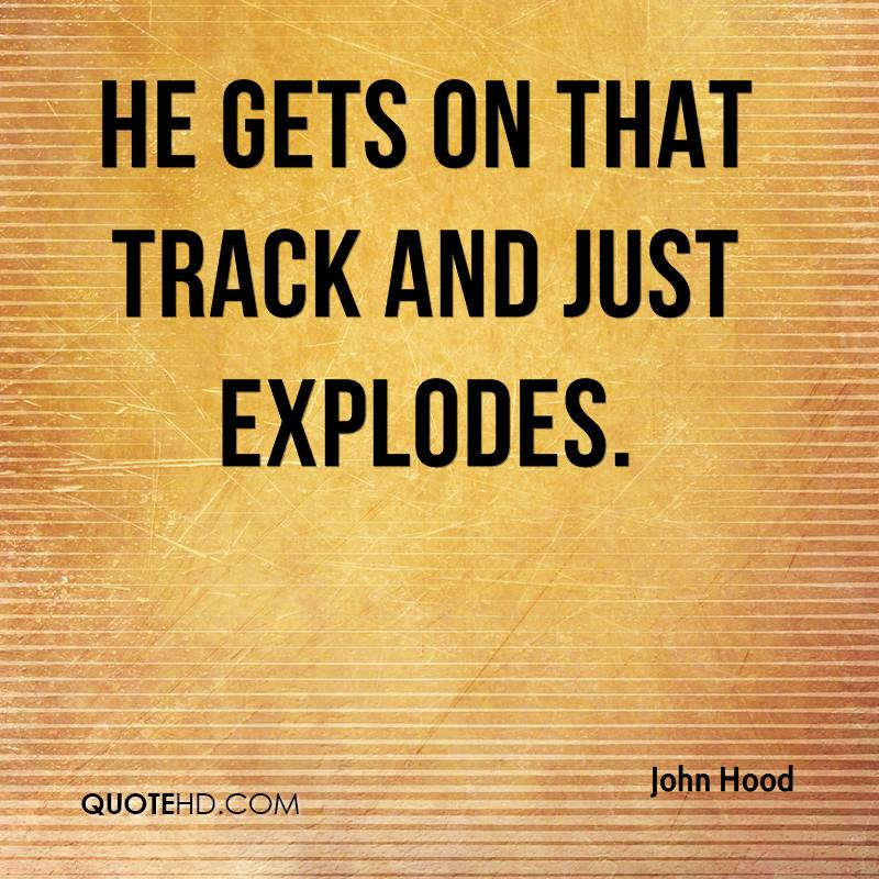 He gets on that track and just explodes.
