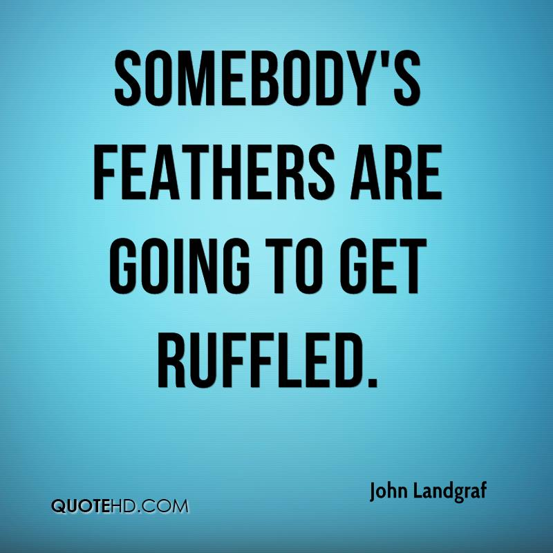 Quotes That go With Feathers Somebody's Feathers Are Going