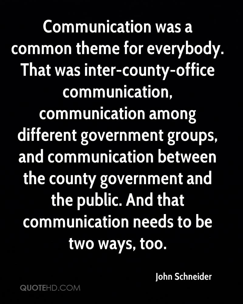 Communication was a common theme for everybody. That was inter-county-office communication, communication among different government groups, and communication between the county government and the public. And that communication needs to be two ways, too.