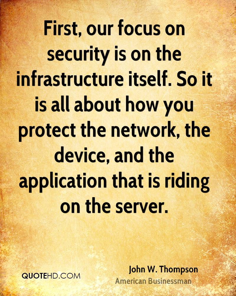 Security Quotes John Wthompson Quotes  Quotehd