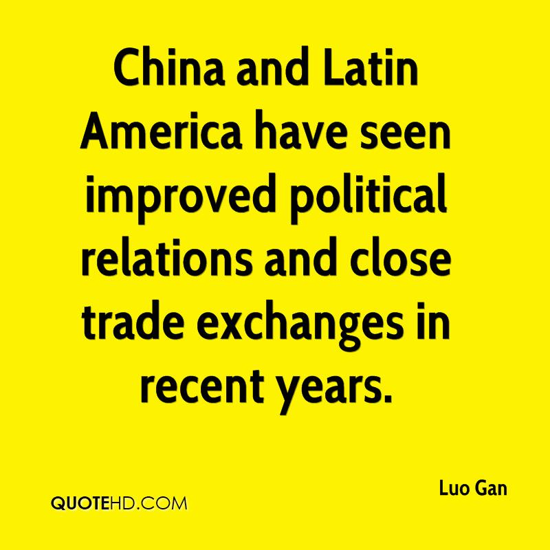 China and Latin America have seen improved political relations and close trade exchanges in recent years.