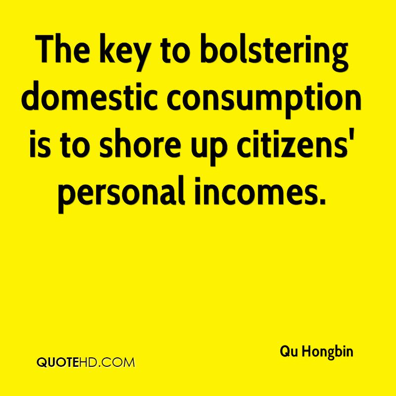 The key to bolstering domestic consumption is to shore up citizens' personal incomes.