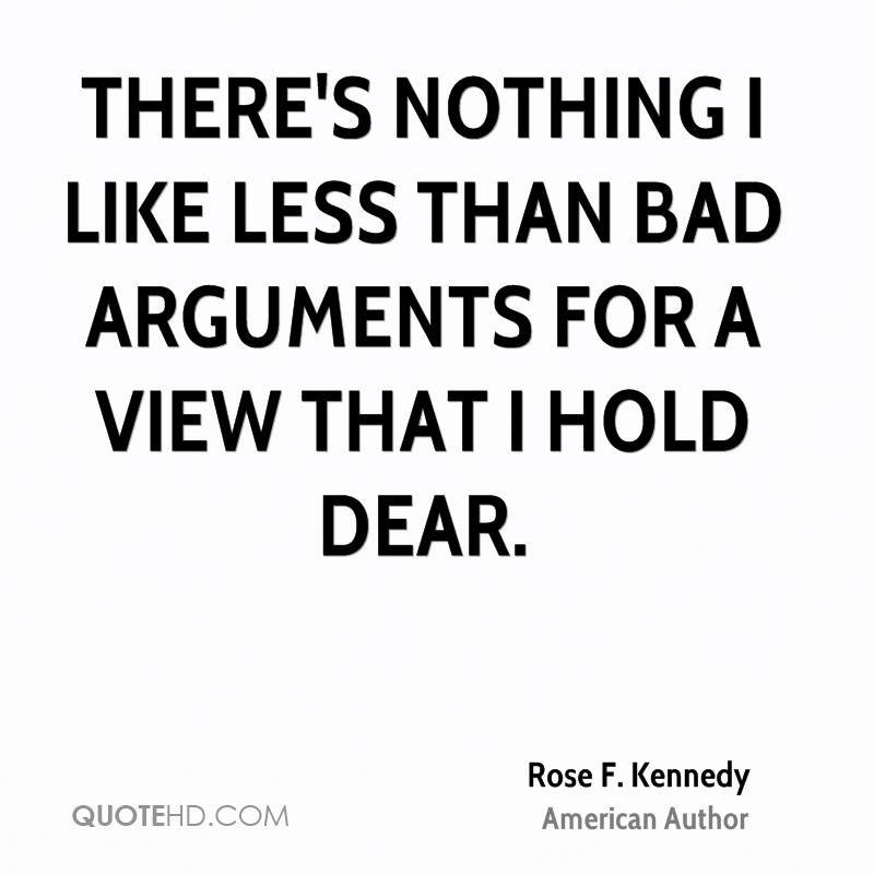 There's nothing I like less than bad arguments for a view that I hold dear.
