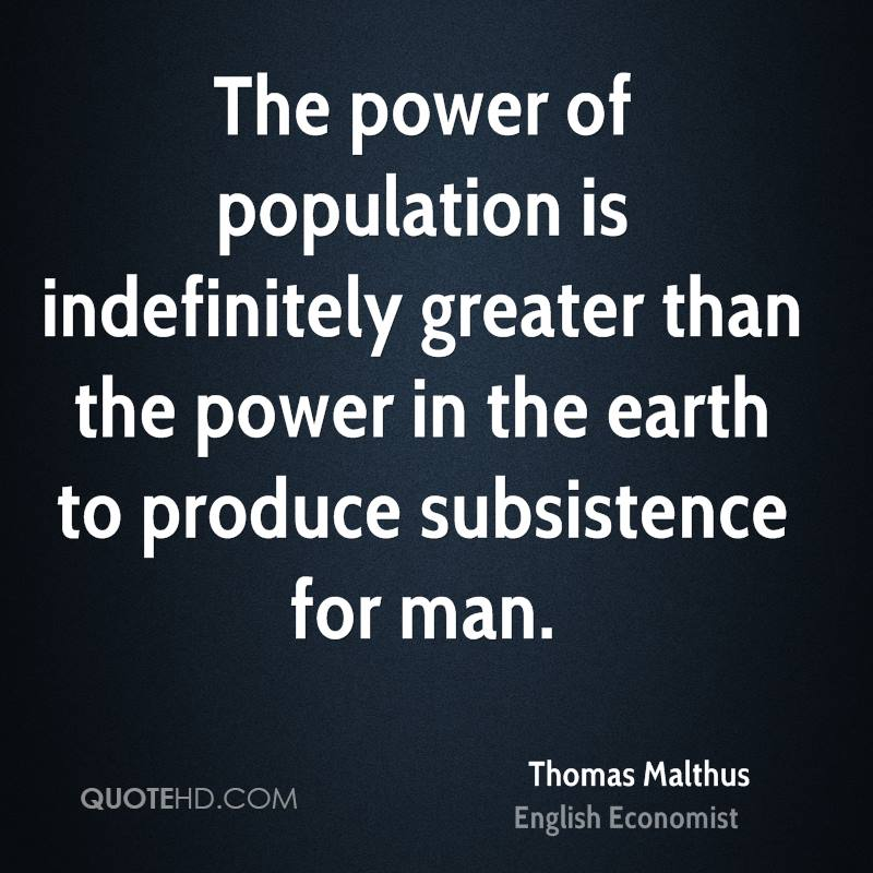 Thomas Malthus Quotes | QuoteHD
