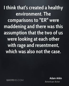 "I think that's created a healthy environment. The comparisons to ""ER"" were maddening and there was this assumption that the two of us were looking at each other with rage and resentment, which was also not the case."