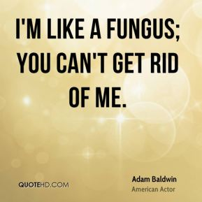 I'm like a fungus; you can't get rid of me.