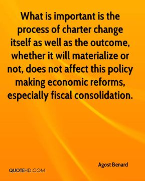 What is important is the process of charter change itself as well as the outcome, whether it will materialize or not, does not affect this policy making economic reforms, especially fiscal consolidation.