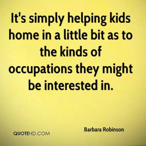 It's simply helping kids home in a little bit as to the kinds of occupations they might be interested in.