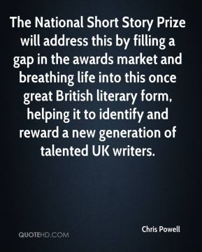 The National Short Story Prize will address this by filling a gap in the awards market and breathing life into this once great British literary form, helping it to identify and reward a new generation of talented UK writers.