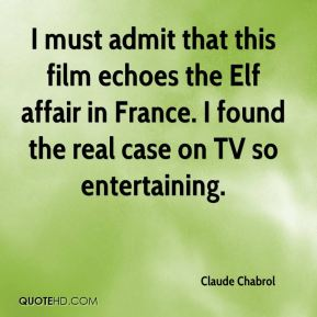 Claude Chabrol - I must admit that this film echoes the Elf affair in France. I found the real case on TV so entertaining.