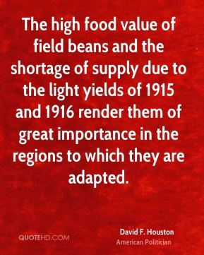 The high food value of field beans and the shortage of supply due to the light yields of 1915 and 1916 render them of great importance in the regions to which they are adapted.