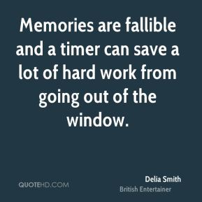 Memories are fallible and a timer can save a lot of hard work from going out of the window.