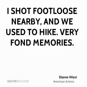 I shot Footloose nearby, and we used to hike. Very fond memories.