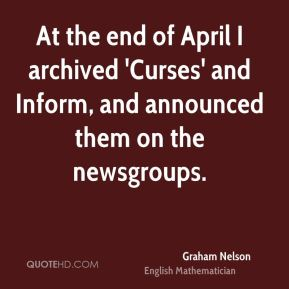 At the end of April I archived 'Curses' and Inform, and announced them on the newsgroups.