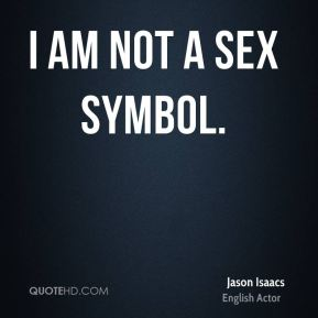 I am not a sex symbol.