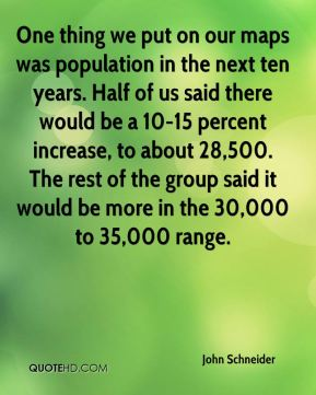 One thing we put on our maps was population in the next ten years. Half of us said there would be a 10-15 percent increase, to about 28,500. The rest of the group said it would be more in the 30,000 to 35,000 range.