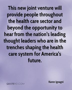 This new joint venture will provide people throughout the health care sector and beyond the opportunity to hear from the nation's leading thought leaders who are in the trenches shaping the health care system for America's future.